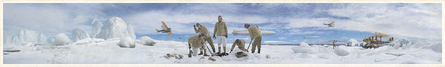 KAHN + SELESNICK, SEAPLANE  5/10 PANORAMIC SURVEY PHOTOGRAPH color digital archival print