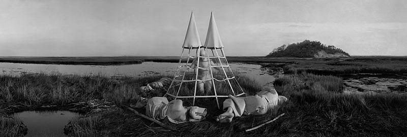 KAHN + SELESNICK, TENTRITES ZELTRITUS  4/5 PANORAMIC SURVEY PHOTOGRAPH b/w quadtone archival digital print