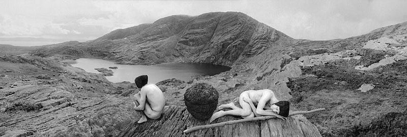 KAHN + SELESNICK, TURFEGG / TORFSAMEN 4/5 PANORAMIC SURVEY PHOTOGRAPH b/w quadtone digital archival print