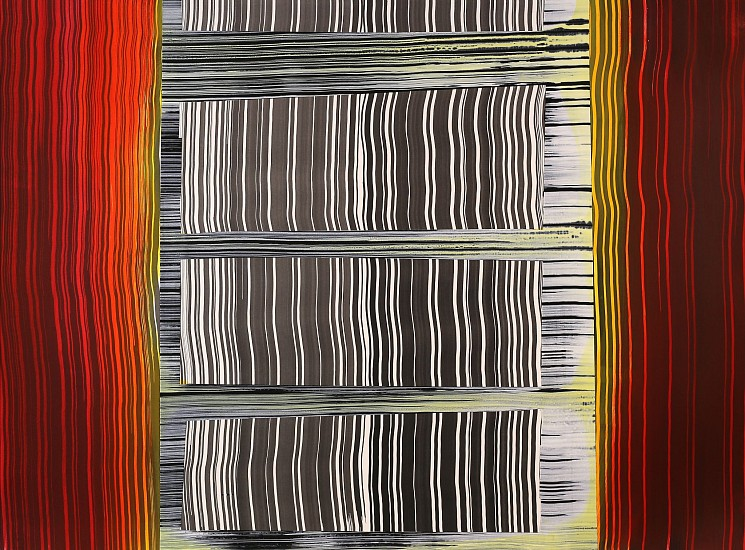 KATE PETLEY, SEPARATION acrylic and ink on paper