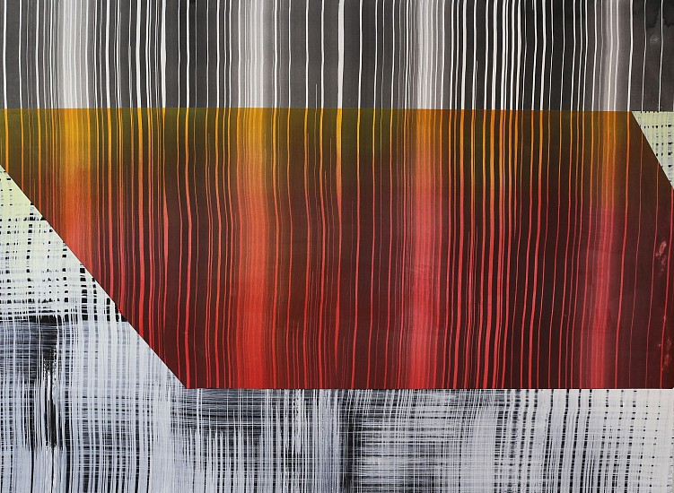 KATE PETLEY, SIDEWAYS acrylic and ink on paper