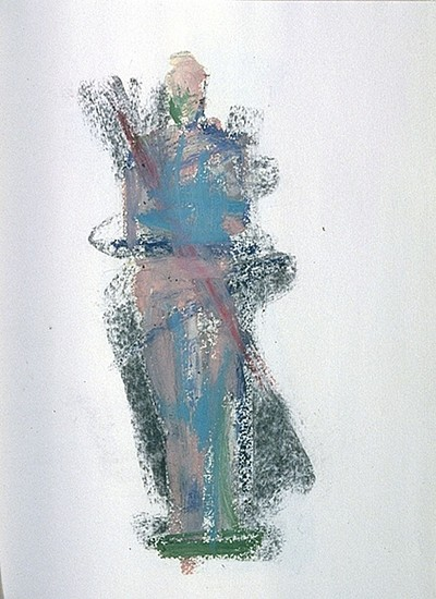 MANUEL NERI, GUSTAVO SERIES No. 31 charcoal, oil pastel on paper