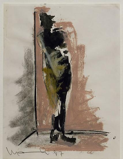 MANUEL NERI, LA FIGURA/ESCALIETA STUDY NO 11 Charcoal, oil paint stick, graphite on paper