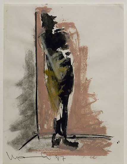 MANUEL NERI, LA FIGURA/ESCALIETA STUDY NO 11 Charcoal, oil paint stick, graphite on paper