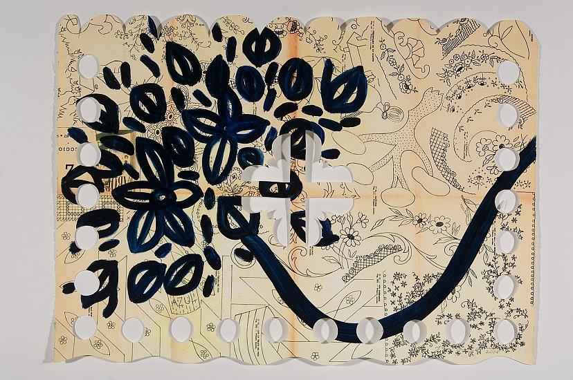 ANA MARIA HERNANDO, LE CEBOLLA DE SHERRY acrylic, ink, oil on vintage paper