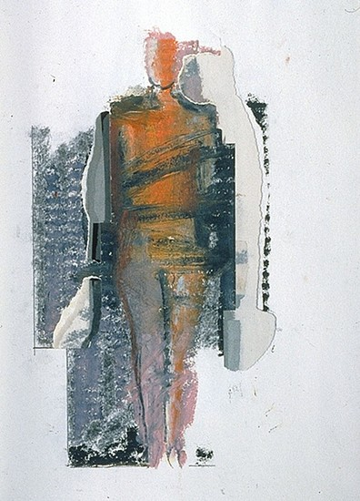 MANUEL NERI, GUSTAVO SERIES No. 23 charcoal, oil pastel, graphite on paper