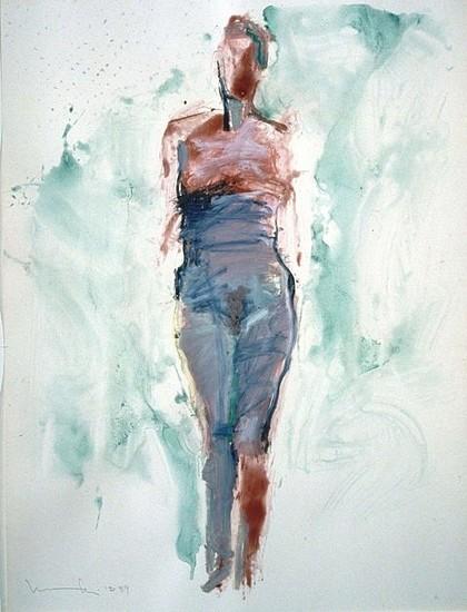 MANUEL NERI, UNTITLED No. 9 oil-paint stick, dry pigment on paper