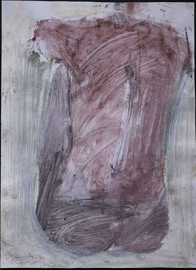 MANUEL NERI, SIRENA I water-based pigments, oil-paint stick, oil-based pigments on paper