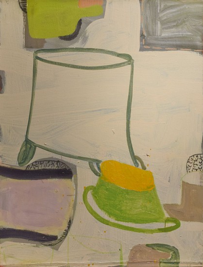 GARY KOMARIN, DIRTY WHITE, AVIGNON mixed media on canvas