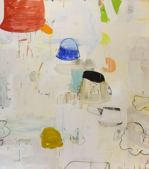 GARY KOMARIN, DIRTY WHITE, PALERMO mixed media on canvas