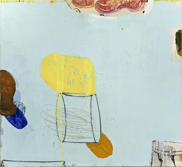 GARY KOMARIN, A WILDER BLUE mixed media on canvas