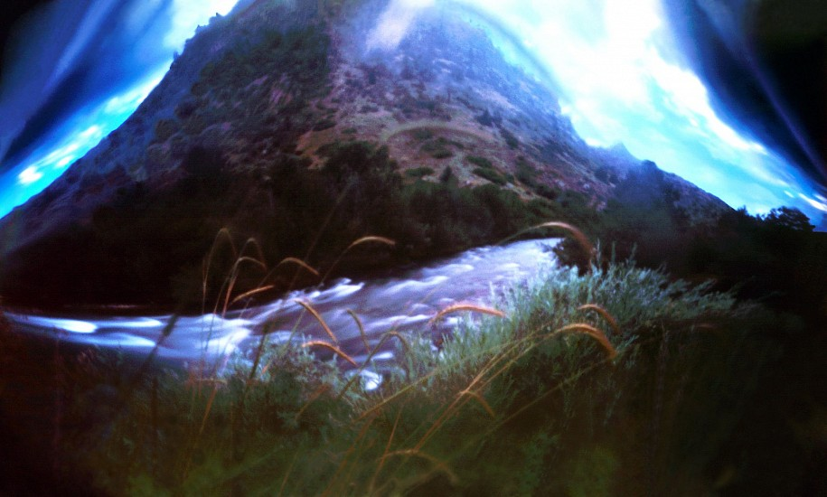 DAVID SHARPE, WATERTHREAD 84 color pinhole photograph