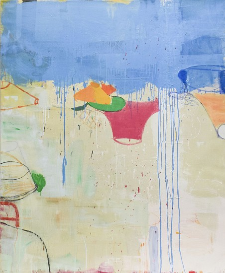 GARY KOMARIN, A SUITE OF BLUE SEA, DUNMORE WEST mixed media on canvas