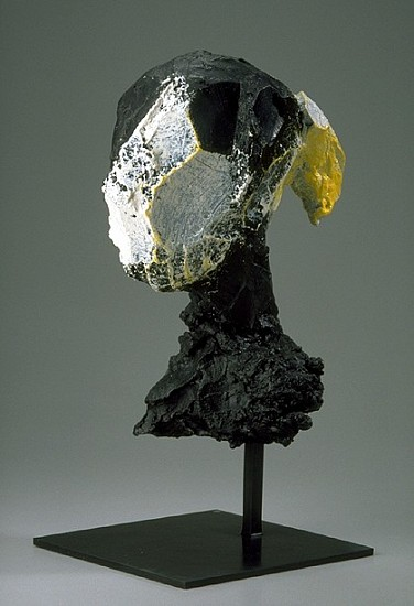 MANUEL NERI, MARY JULIA HEAD 3/4 bronze with oil-based pigments and patina