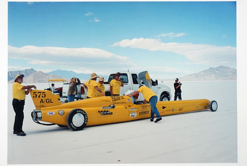 GARY HUIBREGTSE, BONNEVILLE SERIES #1, #3 light jet print on alunimum