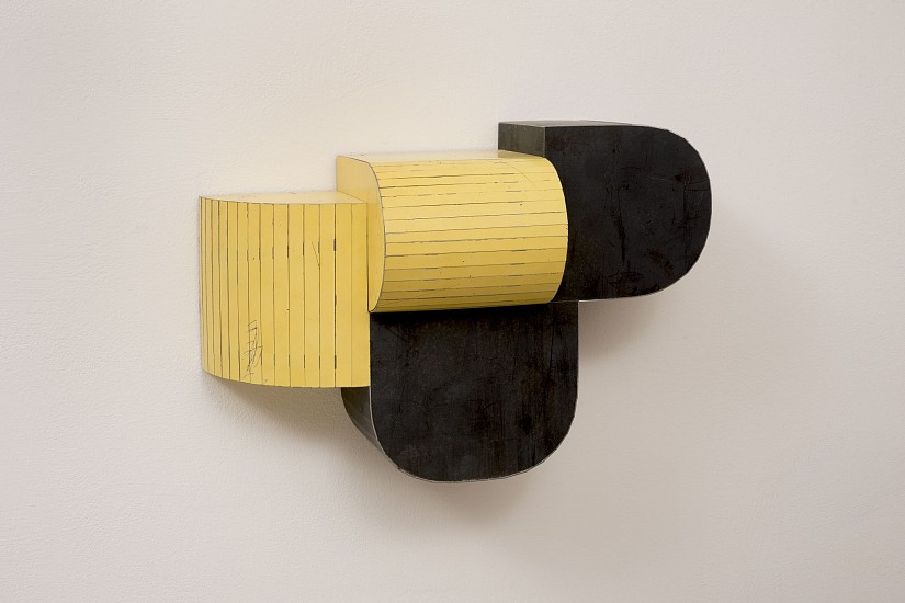 TED LARSEN, CLOSE DISTANCE salvage steel, marine-grade plywood, silicone, vulcanized rubber, hardware