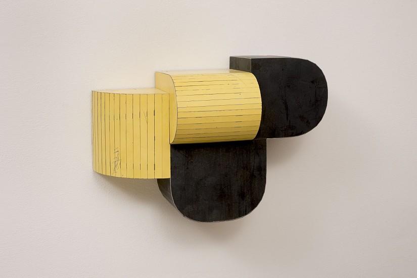 TED LARSEN, CLOSE DISTANCE salvage steel, marine-grade plywood, silicone, vulcanized rubber, hardware