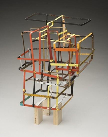 TED LARSEN, RODEO CLOWN salvage steel, rivets, marine-grade plywood, hardware