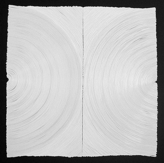 JAE KO, WHITE #32 vinyl on tape over panel