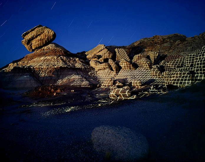 """JIM SANBORN, GREEN RIVER, UTAH """"TOPOGRAPHIC PROJECTIONS"""" Ed. 10 pigment print, face-mounted to Plexi"""