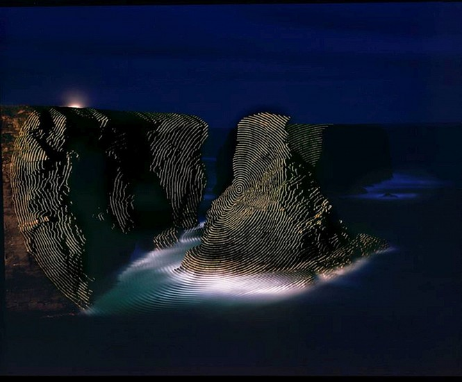 """JIM SANBORN, KILKEE COUNTY CLAIRE, IRELAND """"TOPOGRAPHIC PROJECTIONS"""" Ed. 10 pigment print, face-mounted to Plexi"""
