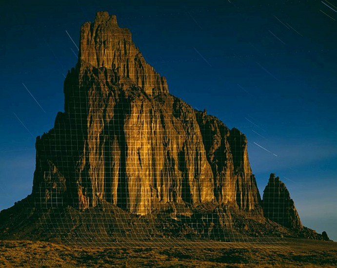 """JIM SANBORN, SHIPROCK, NEW MEXICO """"TOPOGRAPHIC PROJECTIONS"""" Ed. 10 pigment print, face-mounted to Plexi"""