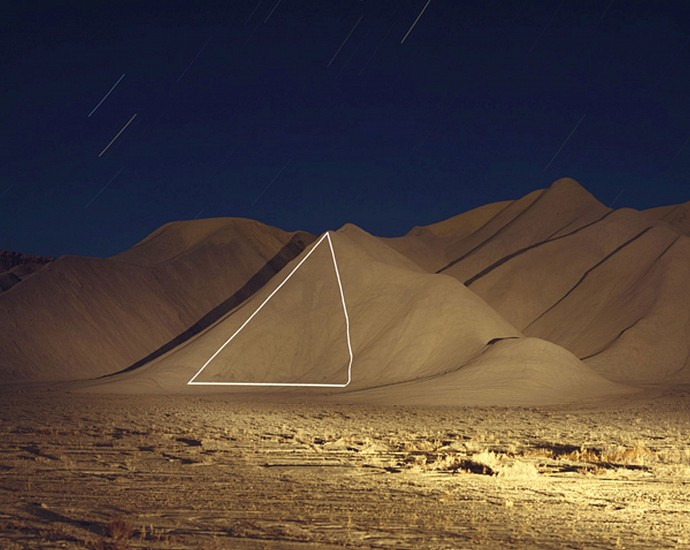 """JIM SANBORN, (TRIANGLE) CAINVILLE, UTAH """"IMPLIED GEOMETRY"""" Ed. pigment print, face-mounted to Plexi"""