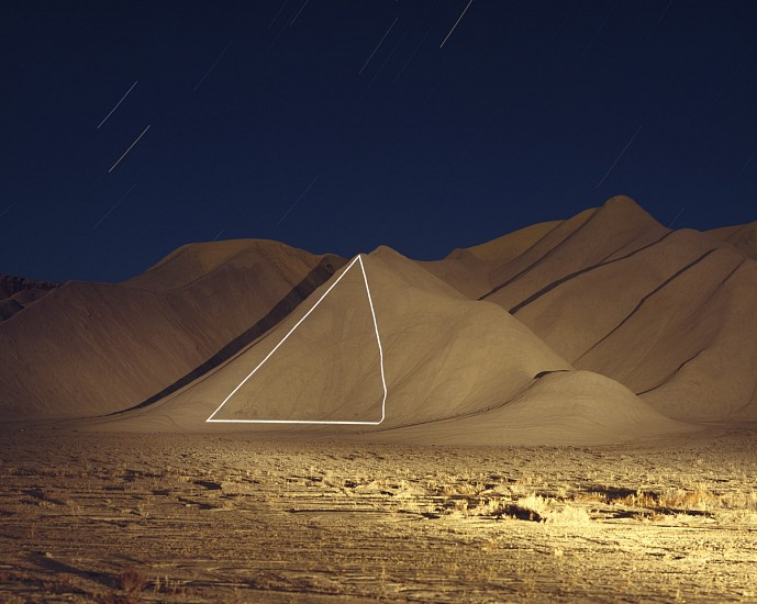 """JIM SANBORN, (TRIANGLE) CAINVILLE, UTAH """"IMPLIED GEOMETRY"""" Ed. 10 pigment print, face-mounted to Plexi"""