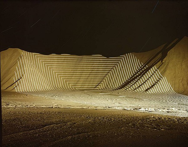 """JIM SANBORN, HORSE VALLEY, UTAH """"TOPOGRAPHIC PROJECTIONS"""" Ed. 10 pigment print, face-mounted to Plexi"""