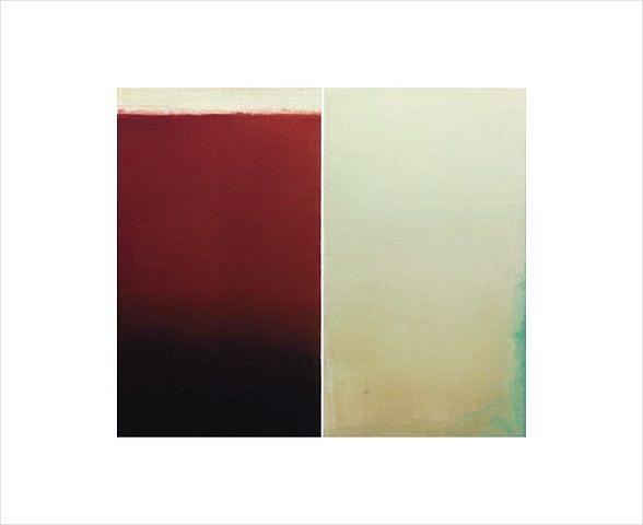 BETTY MERKEN, COUPLET #07-15-32 Oil monotype on Rives BFK paper