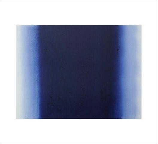 BETTY MERKEN, ILLUMINATION, ULTRAMARINE #10-15-10 Oil monotype on Rives BFK paper