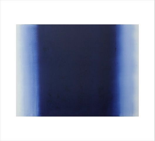 BETTY MERKEN, ILLUMINATION, ULTRAMARINE #10-15-10 Oil monotype on Rives BFK paper