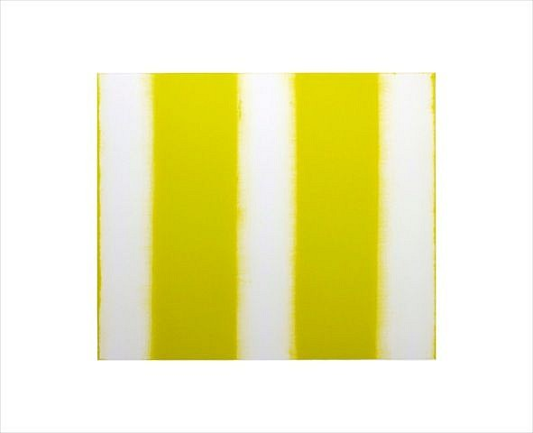 BETTY MERKEN, STRIPES, CITRON #07-15-08 Oil monotype on Rives BFK paper