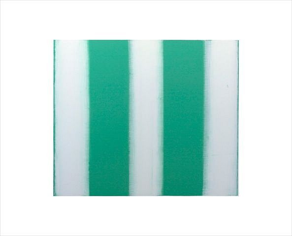 BETTY MERKEN, STRIPES, MINT #07-15-19 Oil monotype on Rives BFK paper