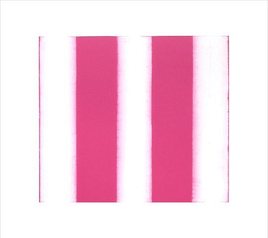 BETTY MERKEN, STRIPES, PINK 02.16.03 Oil monotype on Rives BFK paper