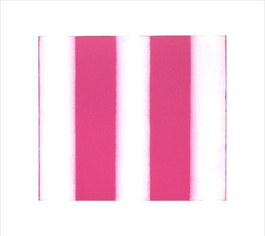 BETTY MERKEN, STRIPES, PINK 02.16.03 Oil monotype on Rives BFK paper