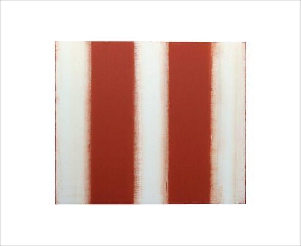 BETTY MERKEN, STRIPES, TERRA COTTA #07-15-26 Oil monotype on Rives BFK paper
