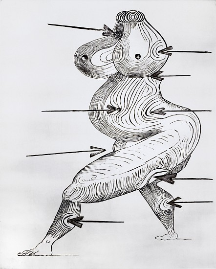 LOUISE BOURGEOIS, SAINTE SEBASTIENNE dry-point intaglio print