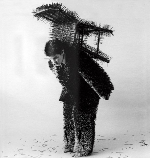 ANN HAMILTON, BODY OBJECT #13 (TOOTHPICK SUIT) silver gelatin print