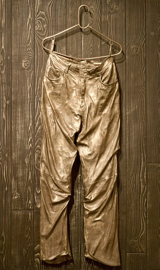 MICKALENE THOMAS, UNTITLED (LEATHER PANTS) bronze
