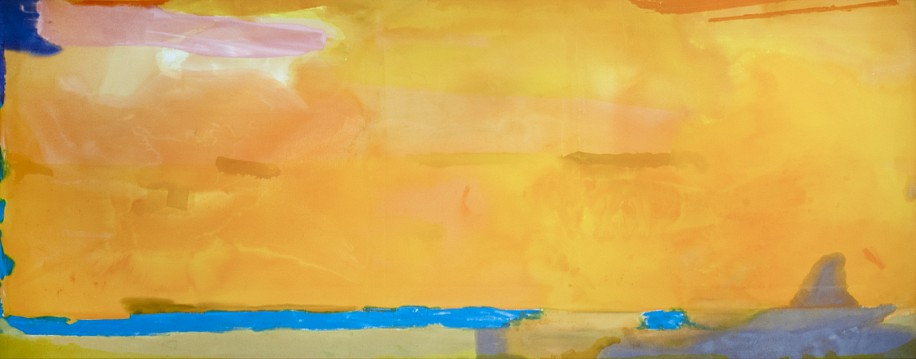 HELEN FRANKENTHALER, ROYAL FIREWORKS acrylic on canvas