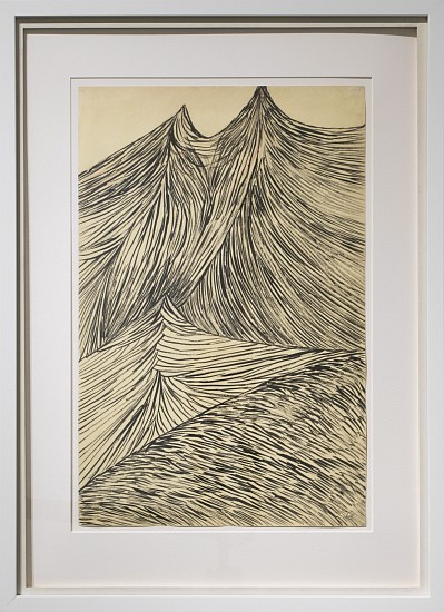 LOUISE BOURGEOIS, UNTITLED ink on colored paper