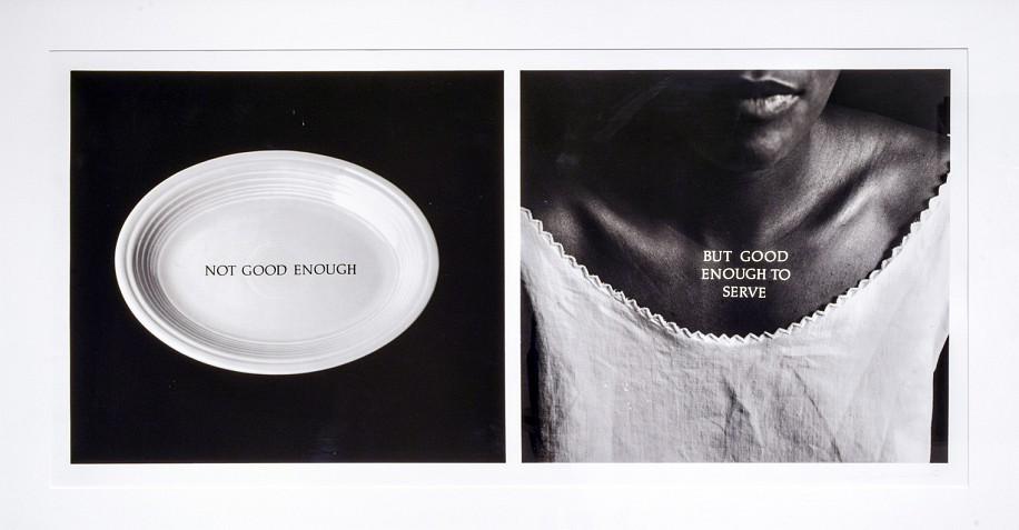 LORNA SIMPSON, C-RATION silver gelatin print