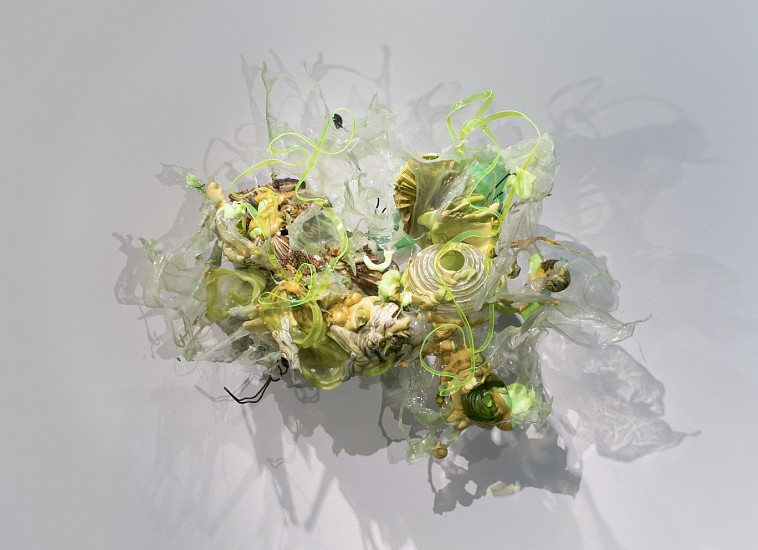 JUDY PFAFF, BELLE ISLE pigmented expanded foam, melted plastic, acrylic, resin, Plexiglas, paper lanterns and steel