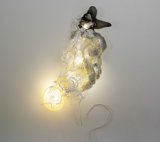 JUDY PFAFF, GRACELAND steel wires, melted plastic, paper lanterns, pigmented expanded foam, fluorescent lights