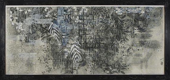 JUDY PFAFF, SNOWY EGRET 6/10 intaglio, relief,  acrylic, encaustic, perforations