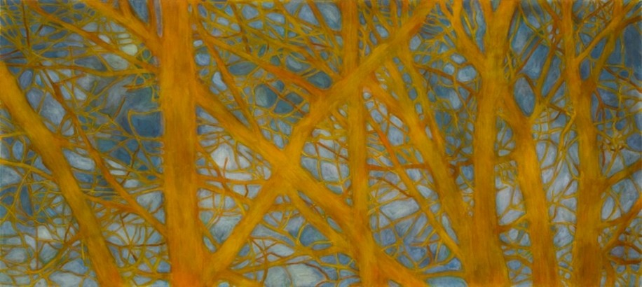 TRINE BUMILLER, TREE OF CONSTRUCTIVE AMBIGUITY oil on panel