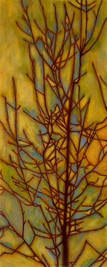 TRINE BUMILLER, TREE OF EXPLICIT INNUENDO oil on panel