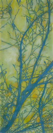 TRINE BUMILLER, TREE OF RESOLUTE CLARITY oil on panel