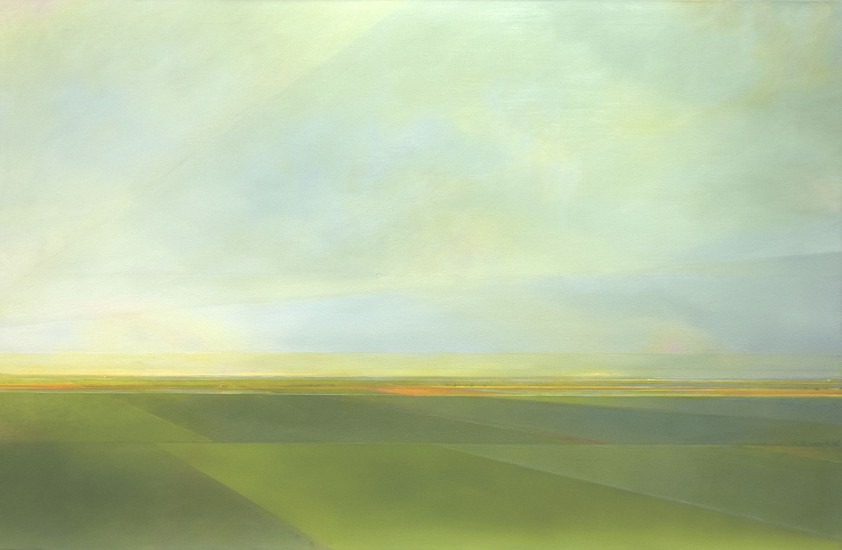 PETER DI GESU, EAST OF THE PEAKS II oil on canvas